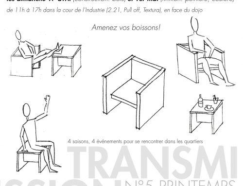 Fabriquez le mobilier du quartier!