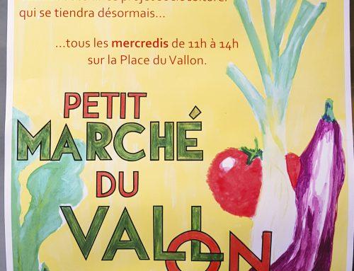Petit marché du Vallon, désormais le mercredi de 11h à 14h