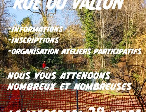 Rencontre Plantage rue du Vallon du 28 mars