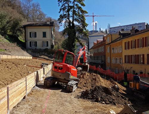 Images du chantier plantage entre novembre 2017 et avril 2018