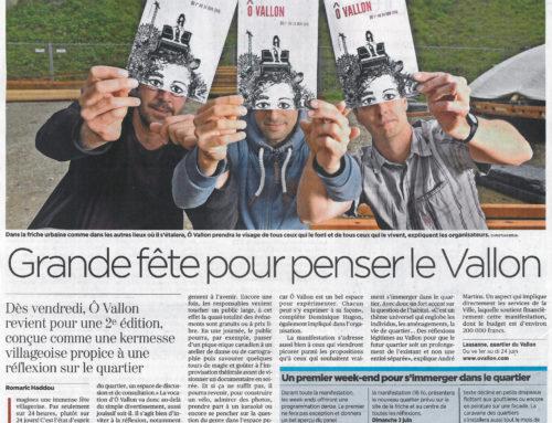 Lancement ÔVallon, article du 31 mai dans le 24h