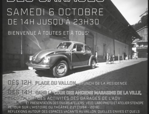 Portes ouvertes des Garages, le samedi 6 octobre dès 14h!