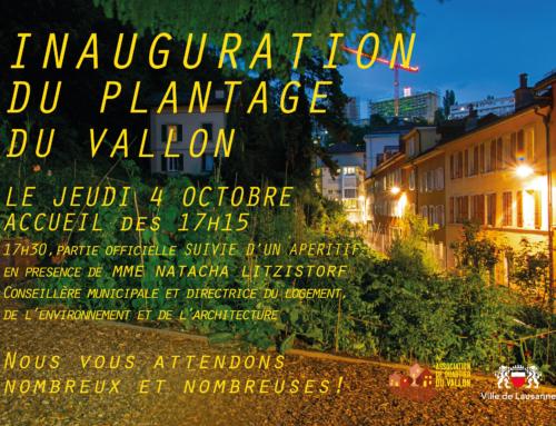 Inauguration du plantage, le jeudi 7 octobre dès 17h15