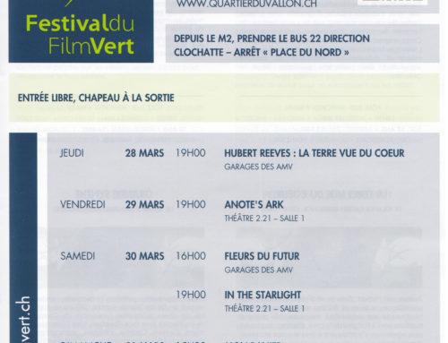 Festival du film vert au Vallon, dans les Garages et au 2.21! Du 28 au 31 mars, entrée libre