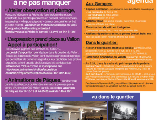 La Newsletter d'avril!