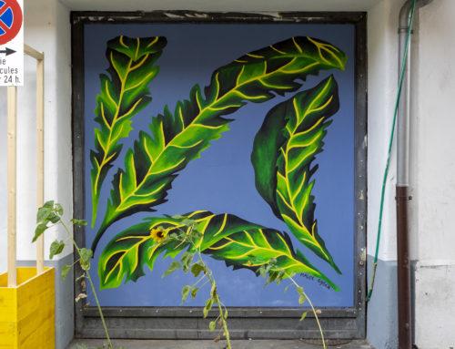 LES RETROUVAILLES AU VALLON, interventions artistiques sur les portes des Garages!