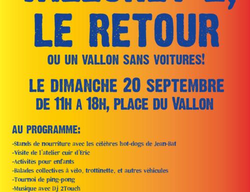 JOURNEE SANS VOITURES AU VALLON, VALLONZY 2, LE RETOUR!