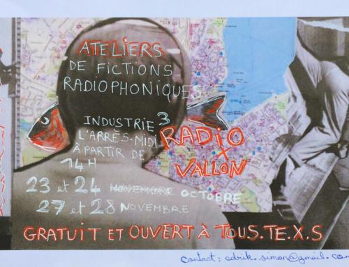 Ateliers de fictions radiophoniques par la Cie Knack! Les 23 et 24 octobre et les 27 et 28 novembre au local du CACV à rue Industrie 3