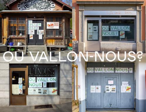 """Le projet """"OÙ VALLON-NOUS?"""", qui, pourquoi et comment? Quatre lieux d'informations dans le quartier"""