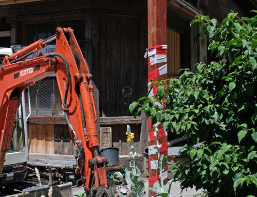 Images du chantier de transformation de la place du Vallon