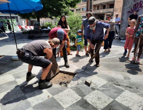 Relance du chantier de transformation de la place du Vallon du samedi 12 juin